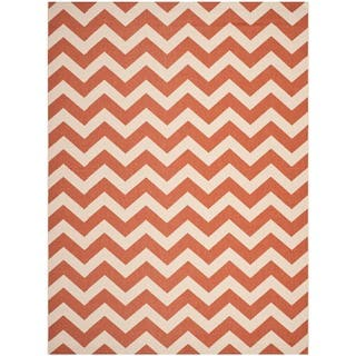 Safavieh Courtyard Chevron Terracotta Beige Indoor Outdoor Rug 53 X 7
