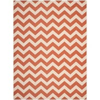 Safavieh Courtyard Chevron Terracotta/ Beige Indoor/ Outdoor Rug - 8' x 11'