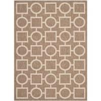 Safavieh Indoor/ Outdoor Courtyard Brown/ Bone Rug with .25-inch Pile - 4' x 5'7