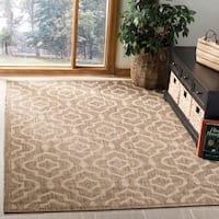 Safavieh Indoor/ Outdoor Courtyard Brown/ Bone Geometric-pattern Rug - 5'3 x 7'7