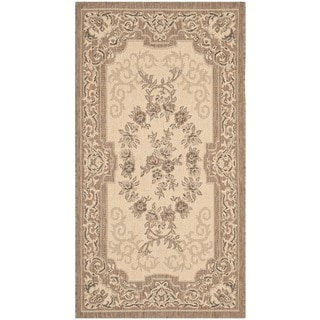 Safavieh Indoor/ Outdoor Courtyard Cream/ Brown Rug (2' x 3'7)