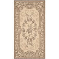 Safavieh Indoor/ Outdoor Courtyard Cream/ Brown Rug - 2' x 3'7