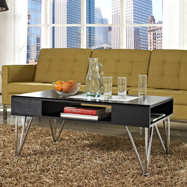 Black Oak Round Coffee Table: Shop Avenue Greene 'Rade' Black Oak Coffee Table
