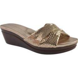 Women's Bandolino Yeva Gold Fabric