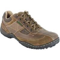 Men's Nunn Bush Parkside Prairie Beige Waxed Suede/Tumbled Leather