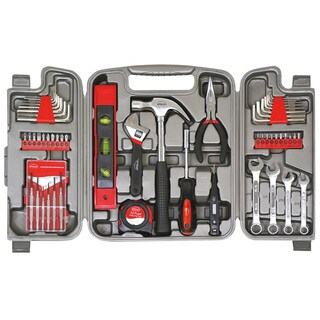 Apollo Chrome-plated Metal 53-piece Household Tool Kit