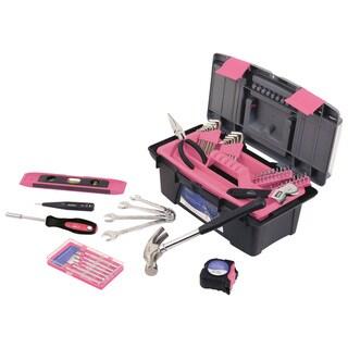 Apollo 53 Piece Tool Kit with Box Pink