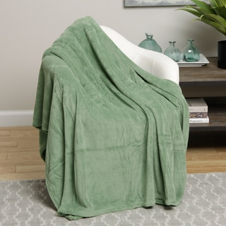 Solid Colored Microplush Throw Blanket