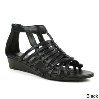 Mark & Maddux 'Jimmy-05' Gladiator Low-heel Wedge Sandals