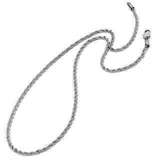 Oliveti Men's Stainless Steel Men's Rope Chain 22-24-inch (3mm)|https://ak1.ostkcdn.com/images/products/8205996/Oliveti-Stainless-Steel-Mens-Rope-Chain-3mm-P15539190.jpg?impolicy=medium
