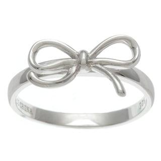 La Preciosa Sterling Silver Bow Design Ring