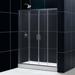 DreamLine Visions Frameless Sliding Shower Door and SlimLine 36 x 60-inch Single Threshold Shower Base