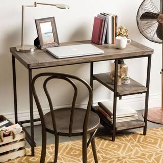 Renate Distressed Grey Slim Writing Desk