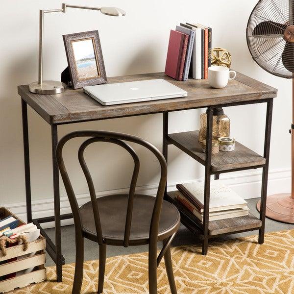 Renate Distressed Grey Slim Writing Desk Free Shipping
