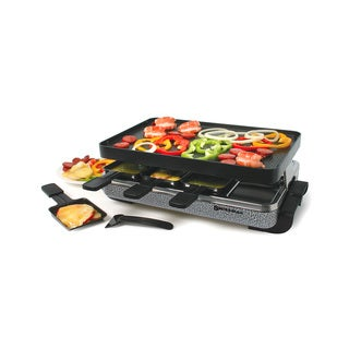 Swissmar 8-Person Eiger Black and Grey Raclette with Reversible Grill Plate