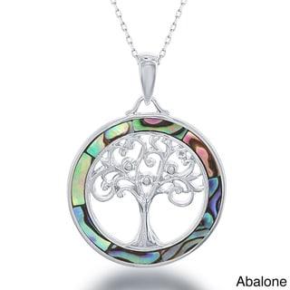 La Preciosa Sterling Silver Tree of Life Pendant Necklace