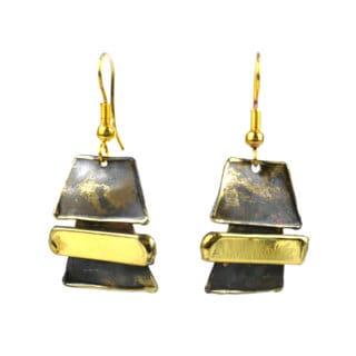 Handmade Zen Brass Earrings (South Africa)