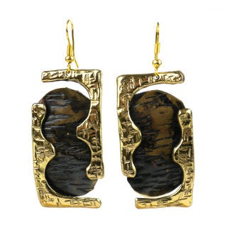 Handmade Road Less Traveled Brass Earrings (South Africa)