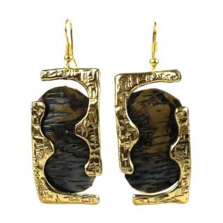 Handmade Road Less Traveled Brass Earrings (South Africa)