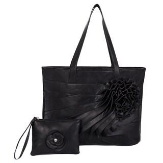 Parinda 'June' Large Faux Leather Tote/ Wristlet
