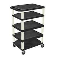 Offex Adjustable Rolling 3-shelf AV Cart
