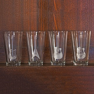 Guitar Collection Pint Glasses (Set of 4)