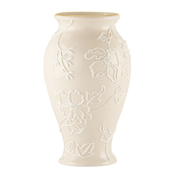 Shop Lenox Dogwood 10 Inch Vase Free Shipping On Orders Over 45
