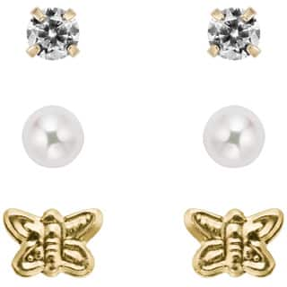 Pearlyta 14k Gold Children's Pearl and CZ 3-pair Earring Set (3-4 mm) with Gift Box|https://ak1.ostkcdn.com/images/products/8206531/Pearlyta-14k-Gold-Childrens-Pearl-and-CZ-3-pair-Earring-Set-3-4-mm-with-Gift-Box-P15539678.jpg?impolicy=medium