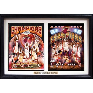 Miami Heat Champions Deluxe Double Photo Framed Print