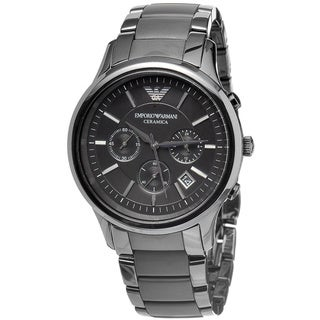 Emporio Armani Men's Black Dial Chronograph Watch