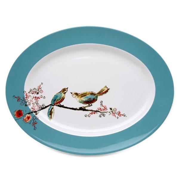 Chirp 16-Inch Oval Serving Platter