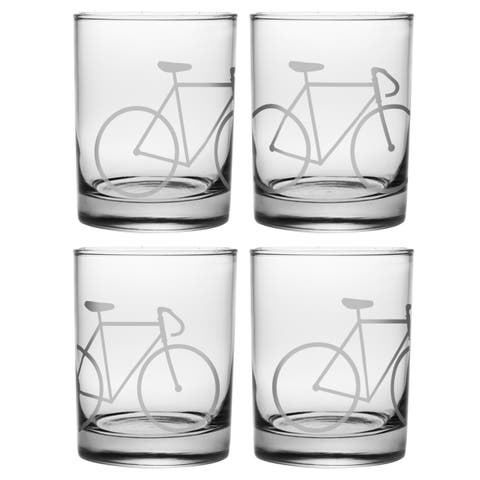 Bicycle Rocks Glasses (Set of 4)
