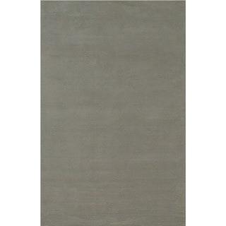 Hand-loomed Solid Pattern Ashwood Rug (9' x 13')