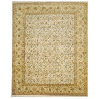 Herat Oriental Indo Hand-knotted Mahal Ivory/ Beige Wool Rug (8' x 10')