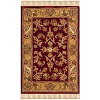 Safavieh Handmade Heritage Timeless Traditional Red/ Gold Wool Rug - 2' x 3'