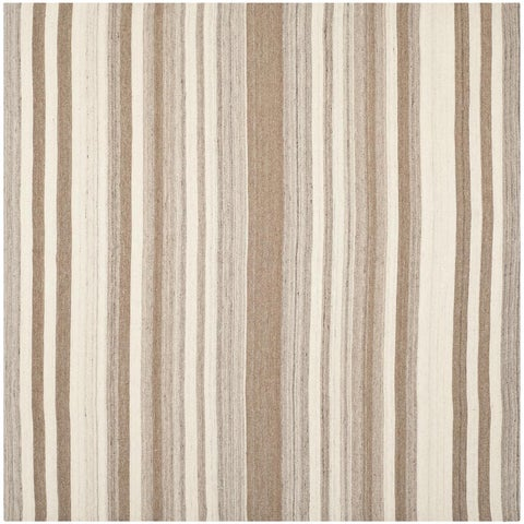 Safavieh Hand-woven Moroccan Reversible Dhurrie Natural Wool Rug - 7' x 7' Square