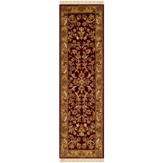 Safavieh Handmade Heritage Timeless Traditional Red/ Gold Wool Rug (2'3 x 8')