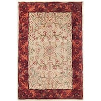 Safavieh Handmade Persian Legend Ivory/ Rust Wool Accent Rug (2' x 3') - 2' x 3'