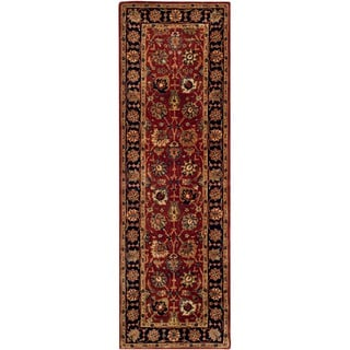 Safavieh Handmade Persian Legend Rust/ Navy Wool Runner Rug (2'6 x 12')
