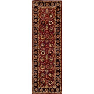 Safavieh Hand-made Persian Legend Rust/ Navy Wool Rug (2'6 x 8')