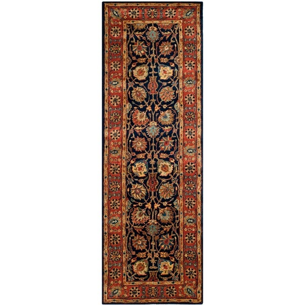 Safavieh Hand-made Persian Legend Navy/ Rust Wool Rug (2'6 x 8')