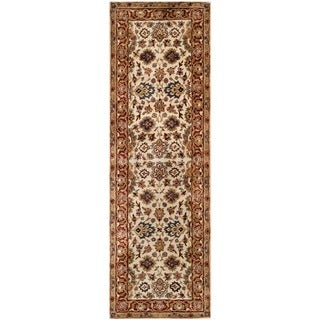 Safavieh Hand-made Persian Legend Ivory/ Rust Wool Rug (2'6 x 10')