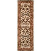 "Safavieh Hand-made Persian Legend Ivory/ Rust Wool Rug - 2'6"" x 12'"