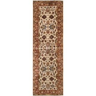 Safavieh Handmade Persian Legend Ivory/ Rust Wool Runner Rug (2'6 x 8')