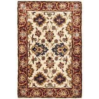 Safavieh Hand-made Persian Legend Ivory/ Rust Wool Rug (3' x 5')