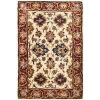 Safavieh Hand-made Persian Legend Ivory/ Rust Wool Rug - 3' x 5'