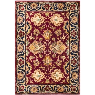 Safavieh Hand-made Persian Legend Rust/ Navy Wool Rug (2' x 3')
