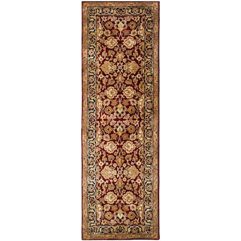 "Safavieh Hand-made Persian Legend Rust/ Navy Wool Rug - 2'6"" x 10'"