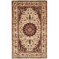 Safavieh Hand-made Persian Legend Ivory/ Ivory Wool Rug - 3' x 5'