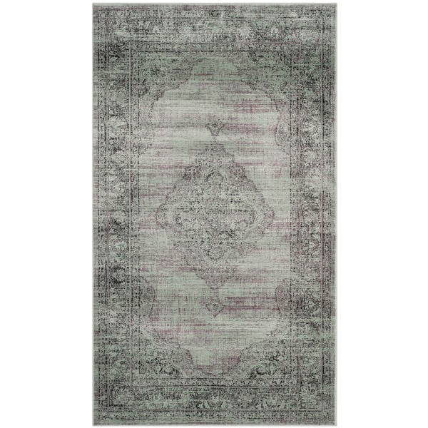Safavieh Vintage Oriental Light Blue Distressed Silky Viscose Rug - 2'7 x 4'